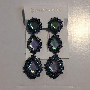 Kendra Scott aria earrings indigo